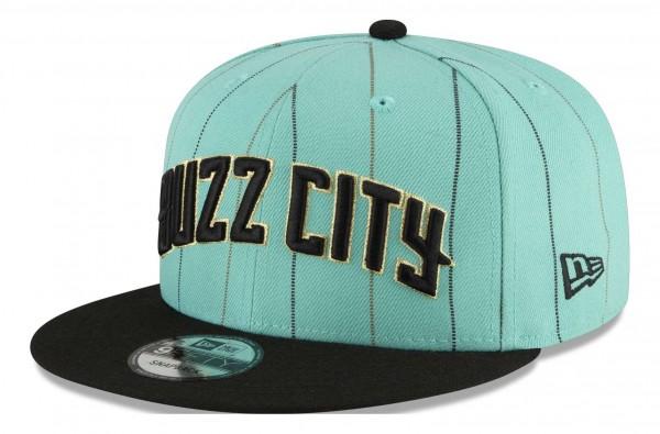 New Era - NBA Charlotte Hornets 2020 City Series Official 9Fifty Snapback Cap - Türkis Ansicht vorne schräg links