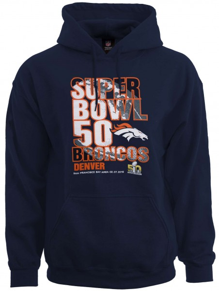 Majestic Athletic - NFL Denver Broncos Superbowl 50 Champions Hoodie - Blau