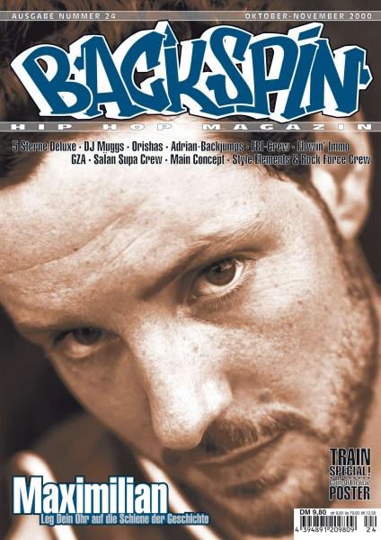 Auf dem Bild ist das Cover zu sehen der BACKSPIN Printausgabe Nummer 24