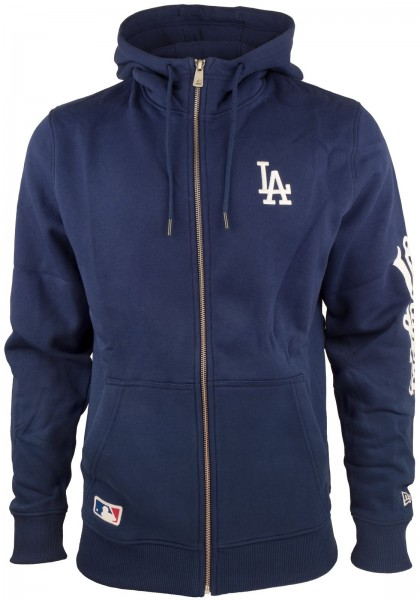 New Era - MLB Los Angeles Dodgers Team Apparel Zip Hoodie - blue