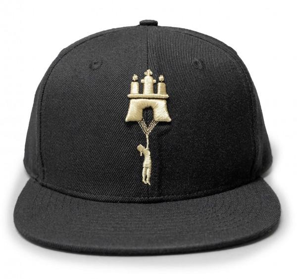 Aight* - Flying Embroidered Snapback Cap - Schwarz Vorderansicht