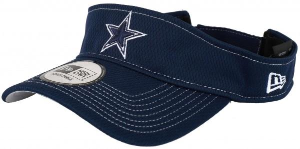 New Era - NFL Dallas Cowboys On Field 2019 Sideline Road Visor - Blau Ansicht schräg links