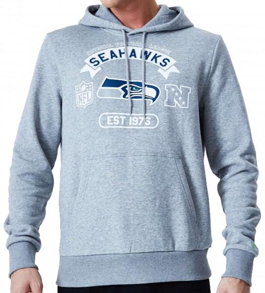 New Era - NFL Seattle Seahawks Graphic PO Hoodie - Grau Vorderansicht