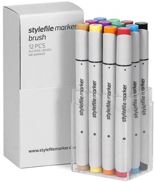 Stylefile - Marker 12er Set Brush Layoutmarker - Main A