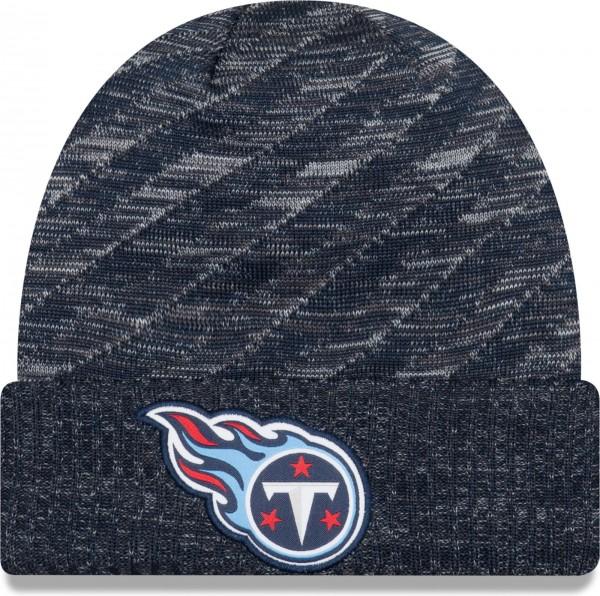 New Era - NFL Tennessee Titans On Field 2018 TD Knit Beanie - Blau-Grau ansicht vorderseite