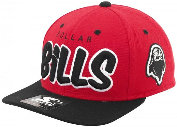 Rocawear - Starter - Dollar Bills Snapback Cap - red-black
