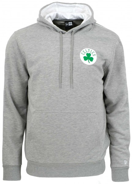 New Era - NBA Boston Celtics Stripe Piping Hoodie - Grau ansicht vorderseite