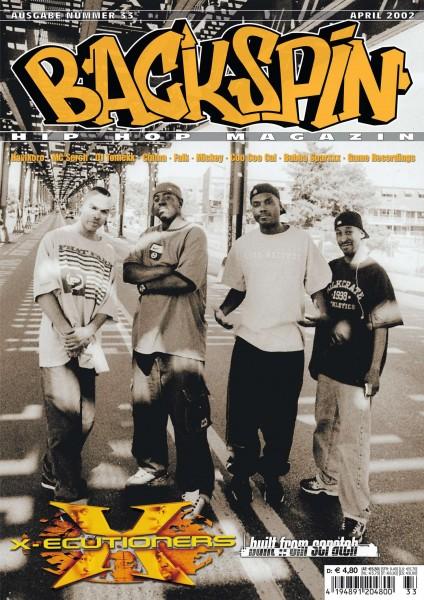 Auf dem Bild ist das Cover zu sehen der BACKSPIN Printausgabe Nummer 33