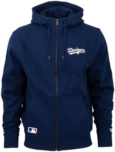 New Era - MLB Los Angeles Dodgers Apparel Script Zip Hoodie - Blau ansicht vorderseite