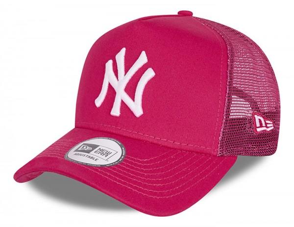 New Era - MLB New York Yankees Tonal Mesh Trucker Snapback Cap - Pink Ansicht vorne schräg links