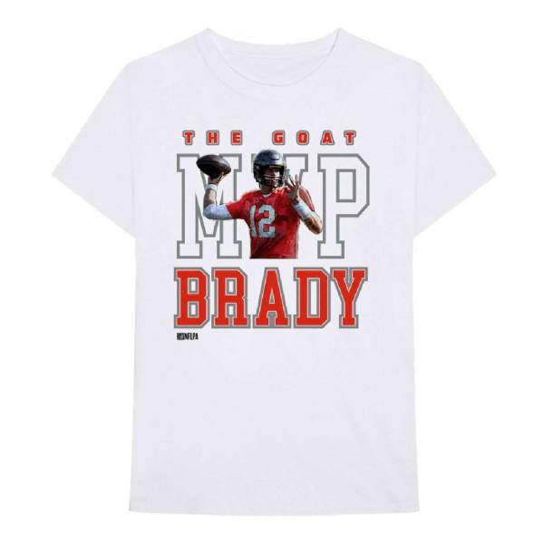Bravado - NFL Tampa Bay Buccaneers Brady MVP T-Shirt - Weiß Vorderansicht