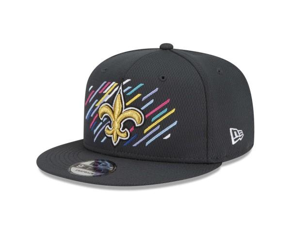 New Era - NFL New Orleans Saints 2021 Crucial Catch 9Fifty Snapback Cap - Grau Ansicht vorne schräg links