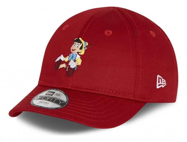New Era - Pinocchio Film Character 9Forty Infant Strapback Cap - Rot Ansicht vorne schräg links