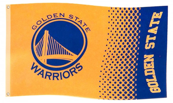 Forever Collectibles - NBA Golden State Warriors Fade Flagge - Gelb Gesamtansicht