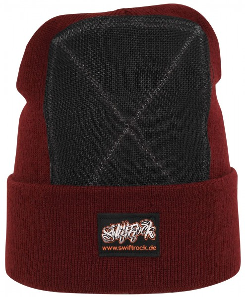 SR Rocking Gear - Swift Rock Classic Headspin Beanie - Weinrot
