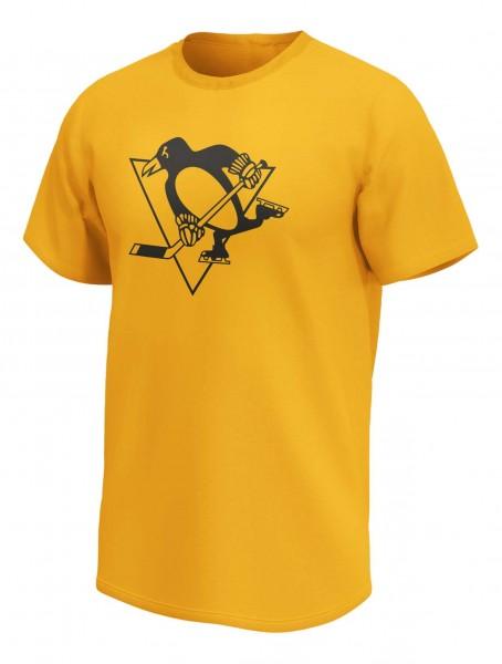 Fanatics - NHL Pittsburgh Penguins Mono Core Graphic T-Shirt - Gelb Vorderansicht