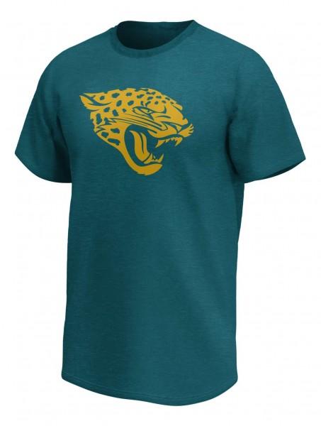 Fanatics - NFL Jacksonville Jaguars Mono Premium Graphic T-Shirt - Blaugrün Vorderansicht