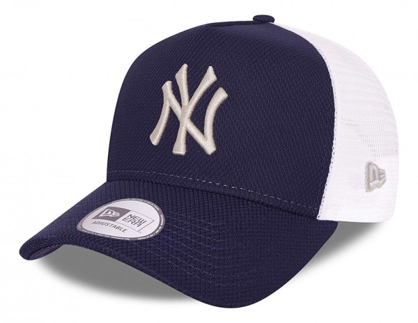 New Era - MLB New York Yankees Diamond Era Trucker Snapback Cap - Blau Ansicht vorne schräg links