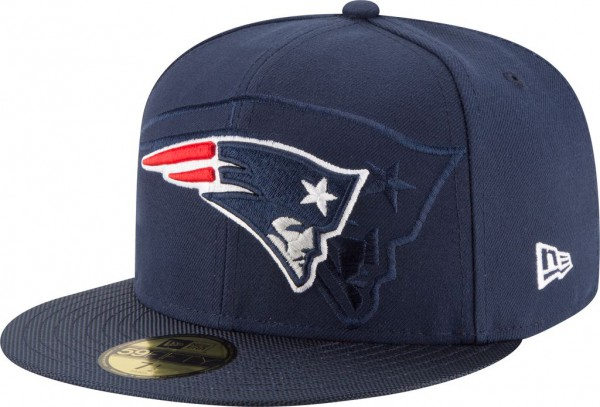 New Era - NFL New England Patriots 2016/17 Sideline 59Fifty Cap - navy