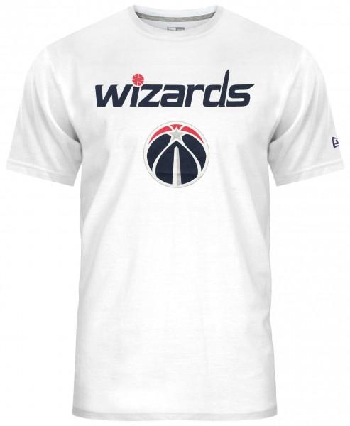New Era - NBA Washington Wizards Team Logo T-Shirt - Weiß Vorderansicht