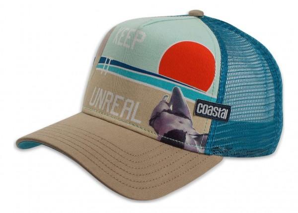 Coastal - Unreal Trucker Snapback Cap - Mehrfarbig Ansicht vorne schräg links