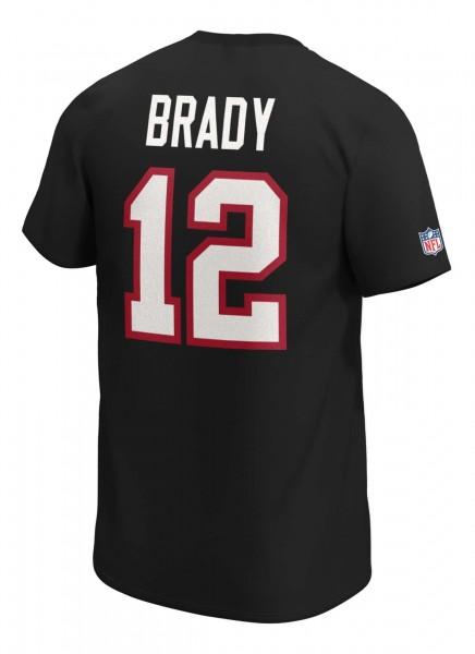 Fanatics - NFL Tampa Bay Buccaneers Iconic Name & Number Graphic Tom Brady T-Shirt - Schwarz Rückansicht