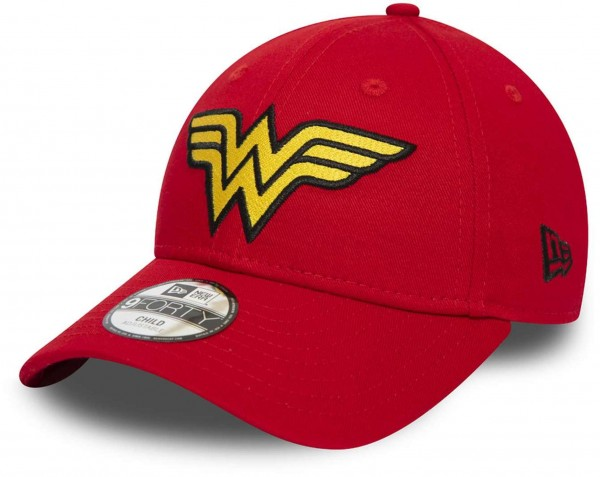 New Era - DC Comics Wonder Woman Character 9Forty Kids Snapback Cap - Rot Ansicht vorne schräg links