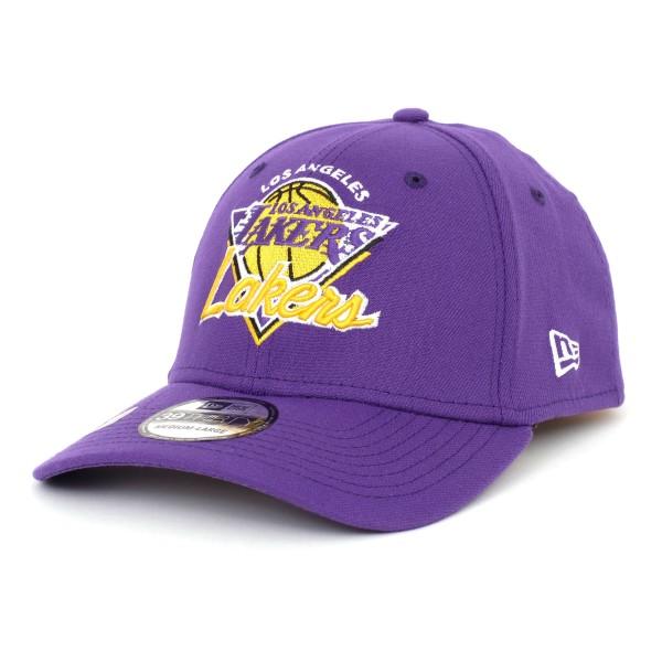 New Era - NBA Los Angeles Lakers 2021 Tip Off 39Thirty Stretch Cap - Lila Ansicht vorne schräg links