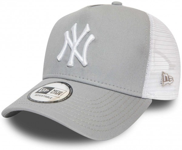 New Era - MLB New York Yankees Essential A-Frame Trucker Snapback Cap - Grau Ansicht vorne links