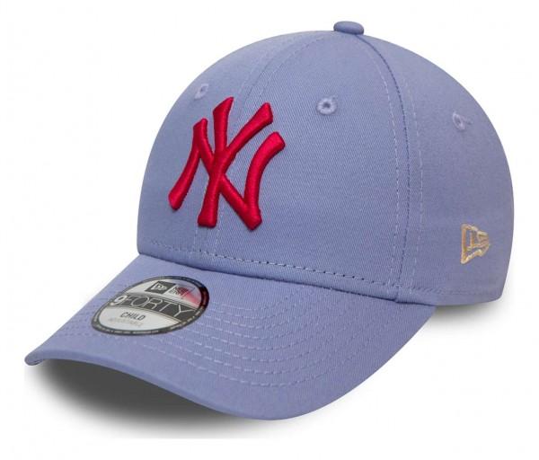 New Era - MLB New York Yankees League Essential 9Forty Kids Strapback Cap - Braun Ansicht vorne schräg links