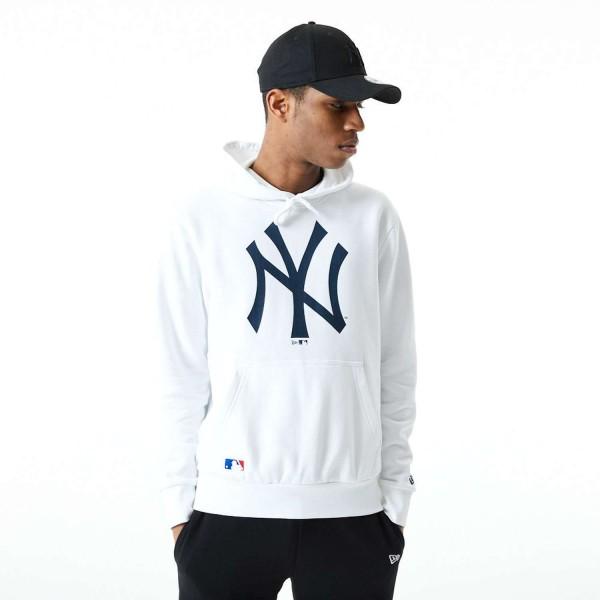 New Era - MLB New York Yankees Infill Logo Hoodie - Weiß Vorderansicht