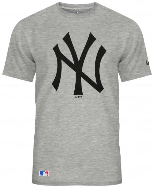 New Era - MLB New York Yankees Team Logo T-Shirt - Grau Vorderansicht