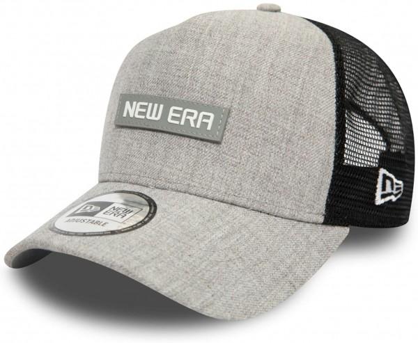 New Era - Heather A-Frame Trucker Snapback Cap - Grau Ansicht vorne schräg links