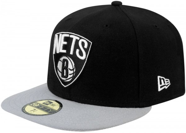 New Era - NBA Brooklyn Nets Basic 59Fifty Cap - black-grey