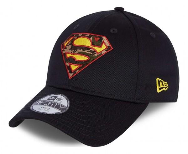 New Era - DC Comics Superman Character Infill 9Forty Kids Strapback Cap - Blau Ansicht vorne schräg links