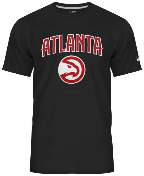 New Era - NBA Atlanta Hawks Team Logo T-Shirt - Schwarz Vorderansicht
