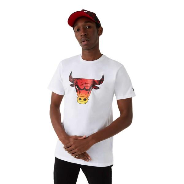 New Era - NBA Chicago Bulls Summer City Infill T-Shirt - Weiß Vorderansicht