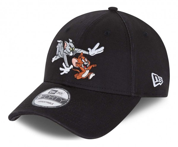 New Era - Tom and Jerry 9Forty Strapback Cap - Grau Ansicht vorne schräg links