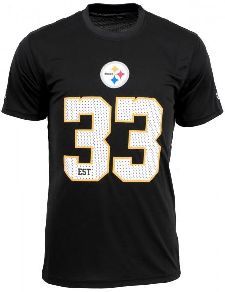 New Era - NFL Pittsburgh Steelers Team Supporters Jersey T-Shirt - Schwarz Vorderansicht
