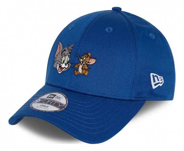 New Era - Tom and Jerry Film Character 9Forty Kids Strapback Cap - Blau Ansicht vorne schräg links