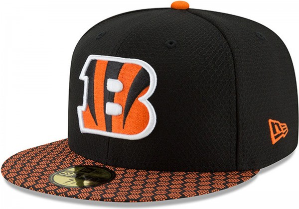 New Era - NFL Cincinnati Bengals 2017 Sideline 59Fifty Cap - black