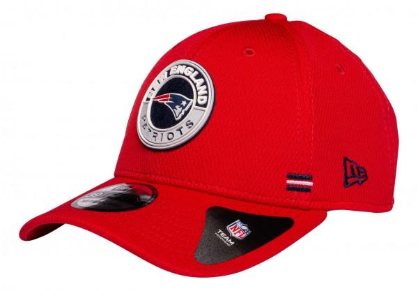 New Era - NFL New England Patriots OnField 2020 Sideline Road Alternative 39Thirty Stretch Cap - Rot Ansicht vorne schräg links
