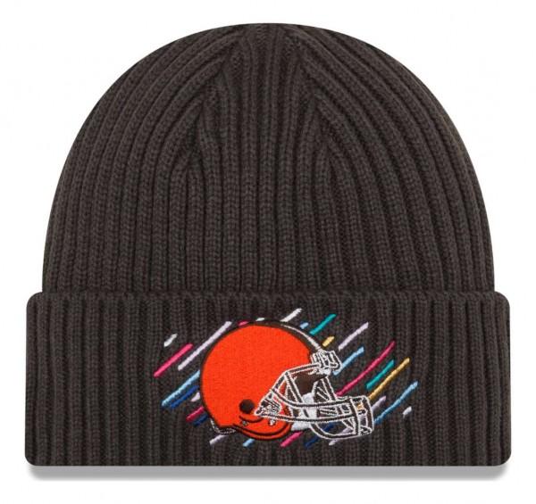 New Era - NFL Cleveland Browns 2021 Crucial Catch Knit - Grau Vorderansicht