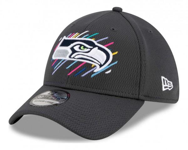 New Era - NFL Seattle Seahawks 2021 Crucial Catch 39Thirty - Grau Ansicht vorne schräg links