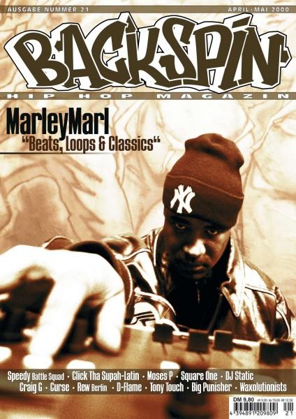 Auf dem Bild ist das Cover zu sehen der BACKSPIN Printausgabe Nummer 21
