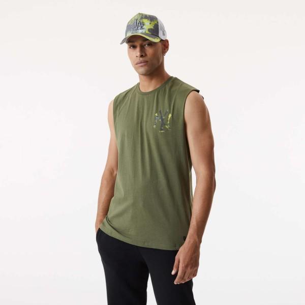 New Era - MLB New York Yankees Infill Team Logo Sleeveless T-Shirt - Grün Vorderansicht