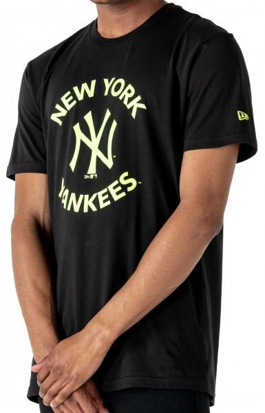 New Era - MLB New York Yankees Printed T-Shirt - Schwarz Vorderansicht