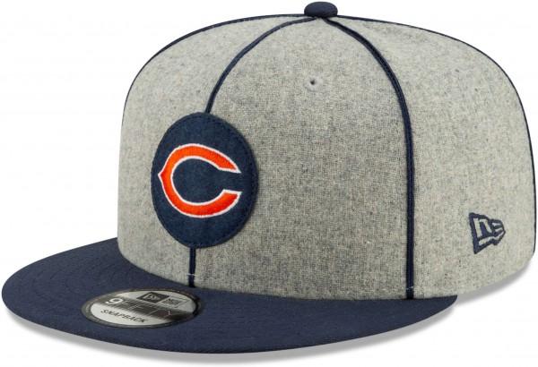New Era - NFL Chicago Bears On Field 2019 Sideline Home 9Fifty Snapback Cap - Grau Ansicht schräg rechts