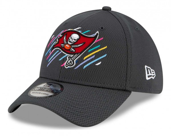 New Era - NFL Tampa Bay Buccaneers 2021 Crucial Catch 39Thirty - Grau Ansicht vorne schräg links