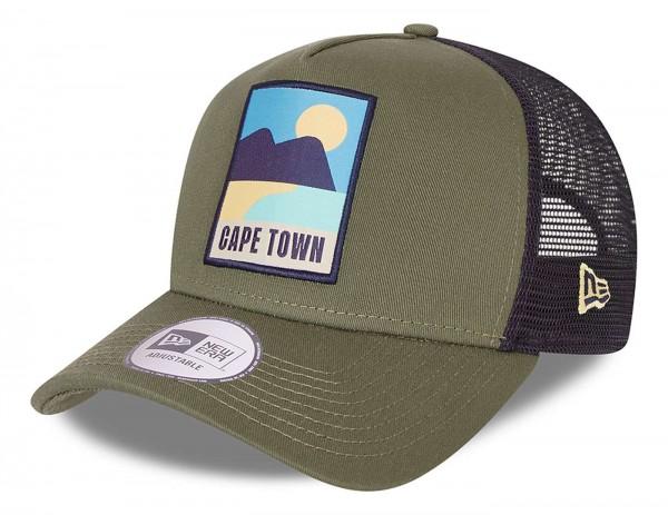New Era - Cape Town Summer Trucker Snapback Cap - Mehrfarbig Ansicht vorne schräg links